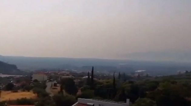 Ναυπακτία: Αποπνικτική η ατμόσφαιρα από τους καπνούς (Video)