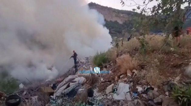 Ναύπακτος: Φωτιά που ξέσπασε κοντά στα Κ.Τ.Ε.Λ. Αιτωλ/νίας κινητοποίησε τους Πυροσβέστες (Video)