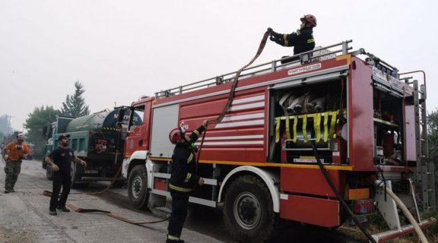 Φωτιά στο Μαρκόπουλο Αττικής (Video)