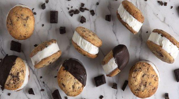Παγωτό σάντουιτς με σπιτικά μπισκότα