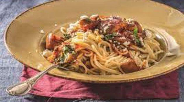 Σπαγγέτι με σάλτσα ιμάμ μπαϊλντί