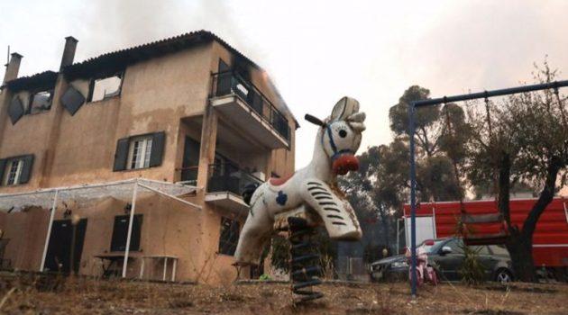 Βαρυμπόμπη: 80 καμένα σπίτια ο έως στιγμής απολογισμός από την καταστροφική φωτιά