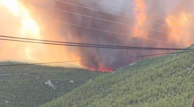 Καίει για πέμπτη ημέρα η φωτιά στα Βίλια