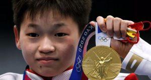 Χρυσή Ολυμπιονίκης ετών 14 στις καταδύσεις