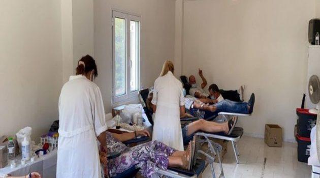 Μεγάλη συμμετοχή στην εθελοντική αιμοδοσία στο Τρίκορφο Ναυπακτίας (Video)