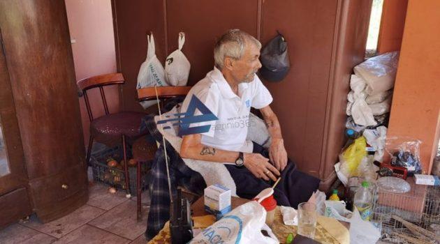 Δοκίμι Αγρινίου: Απάνθρωπες συνθήκες διαβίωσης για τον 67χρονο Σπύρο Λάϊο (Video – Photos)