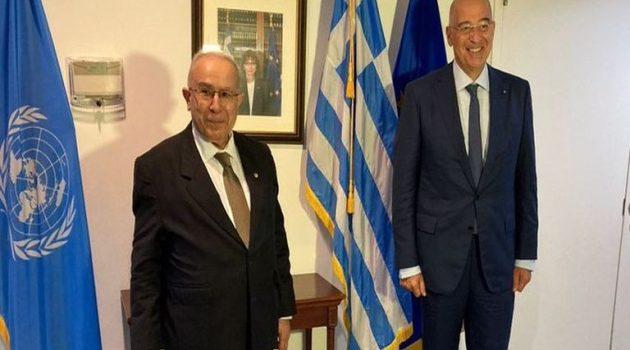 Nίκος Δένδιας: Συνάντηση με τον Αλγερινό ΥΠ.ΕΞ. με θέμα τη Λιβύη