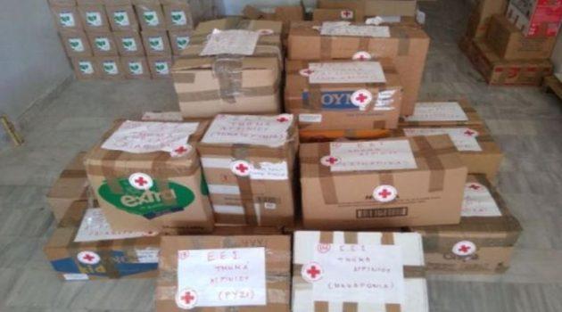 Βοήθεια στους πυρόπληκτους Ηλείας από το Περιφερειακό Τμήμα Ε.Ε.Σ. Αγρινίου