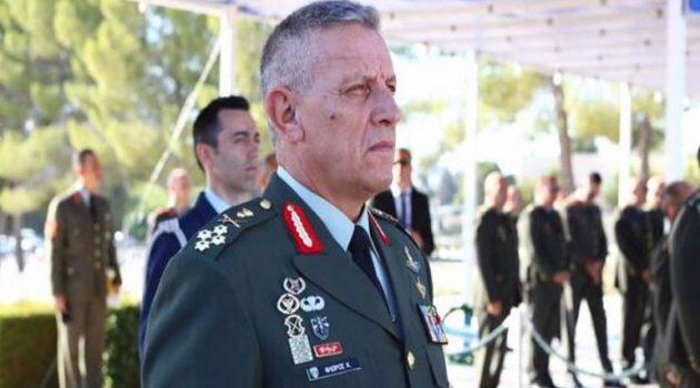 Ο Αρχηγός Γ.Ε.ΕΘ.Α. στο Αιτωλικό για τα αποκαλυπτήρια της προτομής του Γ. Καραϊσκάκη