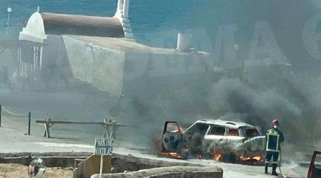 Θρίλερ με καμένο αυτοκίνητο στη Μύκονο – Όλα τα ενδεχόμενα ανοιχτά