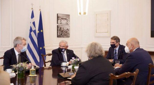 Μητσοτάκης: Συνάντηση με τους Αμερικανούς γερουσιαστές Κρίς Μέρφι και Τζον Όσοφ