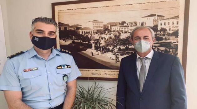 Συνάντηση του Σπ. Κωνσταντάρα με τον Διοικητή της Τροχαίας Αγρινίου