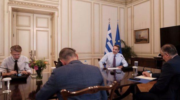 Στο Μαξίμου Στυλιανίδης, Χαρδαλιάς, Σκρέκας – Στενή συνεργασία ζήτησε ο Μητσοτάκης