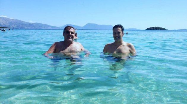 Με τον Δήμαρχο Αγρινίου Γ. Παπαναστασίου στην Παραλία «Βαθυαβάλι» Πογωνιάς – Παλαίρου