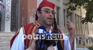 Πύργος: Ντυμένος τσολιάς στα δικαστήρια αρνητής του κορωνοϊού