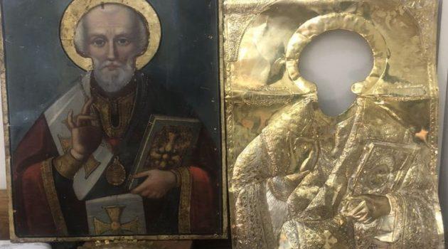 Συνελήφθη άνδρας για κλοπή της εικόνας του Αγίου Νικολάου από Ιερό Ναό στην Πάτρα