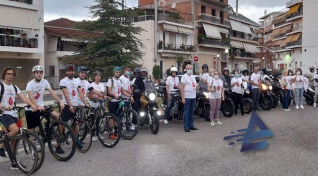 Αγρίνιο: Δυναμική παρουσία της Λέσχης Μοτοσυκλέτας στη Λαμπαδηδρομία (Videos – Photos)