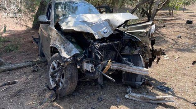 Εκτροπή Ι.Χ.Ε. αυτοκινήτου στα Καλύβια Σαρδινίων Αμφιλοχίας (Video – Photos)