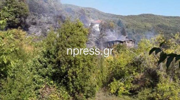 Φωτιά στον Ασπριά: Από θαύμα γλίτωσε η Ορεινή Ναυπακτία (Photos – Video)