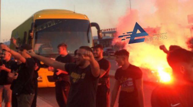 Αγρίνιο: Οπαδοί της Α.Ε.Κ. στο ξενοδοχείο που κατέλυσε η αποστολή (Video)