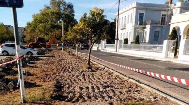 Δήμος Ι.Π. Μεσολογγίου: Διαμόρφωση πεζοδρομίων για την ασφάλεια των πολιτών (Photos)