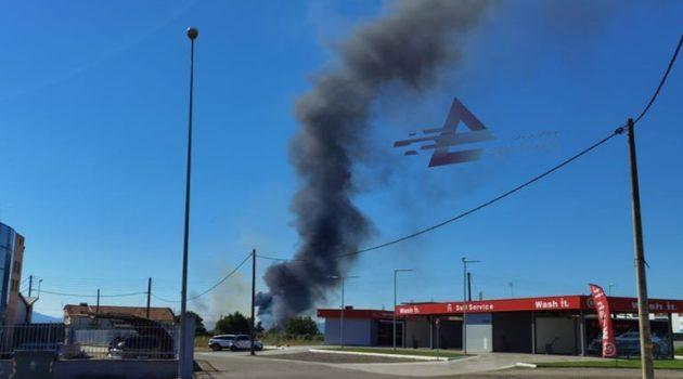 Φωτιά σε χωράφια κινητοποίησε άνδρες της Π.Υ. Αγρινίου (Photos)