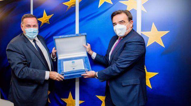 Συνάντηση του Σπύρου Καπράλου με τον Αντιπρόεδρο της Ευρωπαϊκής Ένωσης (Photo)