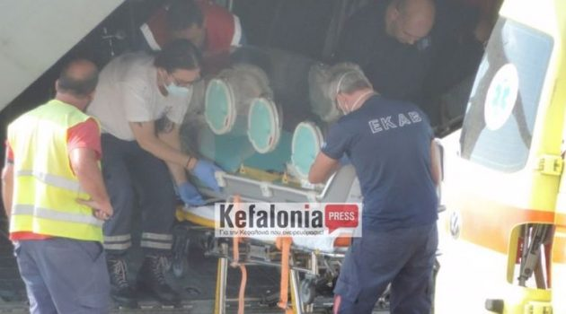 Κεφαλονιά: Αεροδιακομιδή ασθενούς με Covid-19 σε κάψουλα