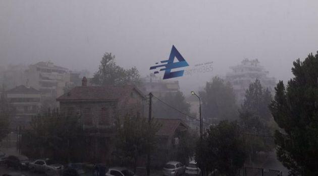 Αγρίνιο: Ισχυρή νεροποντή νωρίτερα – Η κακοκαιρία «Αθηνά» συνεχίζεται (Video – Photos)