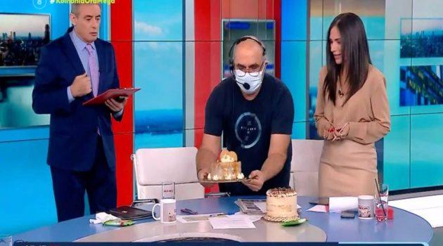 Ο Γιώργος Παπαδάκης έστειλε… τούρτες στην «Κοινωνία Ώρα Μega»