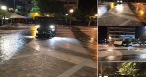 Αγρίνιο: Πρωινό πλύσιμο της Κεντρικής Πλατείας (Photos)