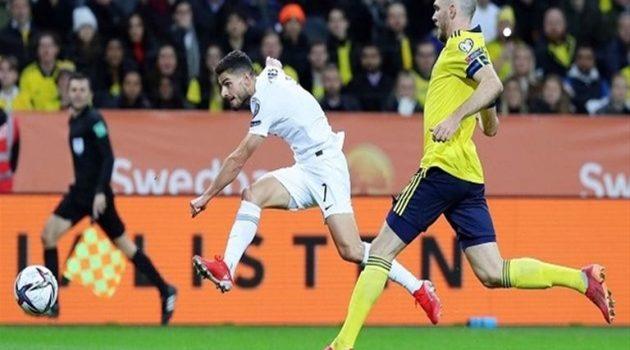 Προκριματικά Παγκοσμίου: Ήττα της Εθνικής με 2-0 από αντίστοιχη της Σουηδίας