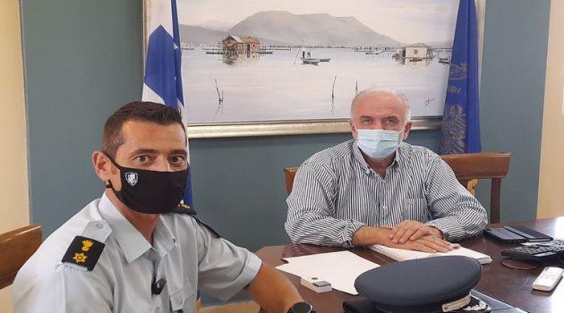 Συνάντηση του Δημάρχου Ι.Π. Μεσολογγίου με τον Διοικητή της Τροχαίας