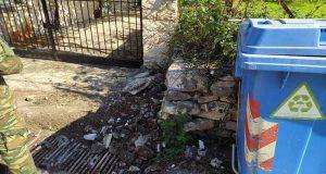 Σιταράλωνα Θέρμου: Βρέθηκε βλήμα Αμερικάνικου τύπου στην είσοδο σπιτιού